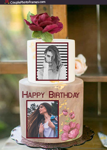 birthday-cake-dual-photo-frame-online