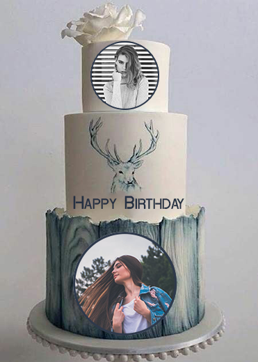 romantic-birthday-cake-with-double-photo-frame