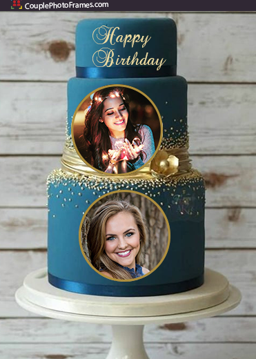 tiered-birthday-cake-with-dual-photos